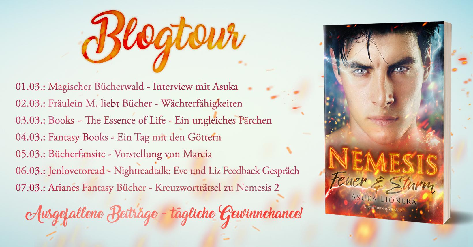 Talk Show Nightreadtalk #2 – 'Nemesis: Feuer & Sturm' [Blogtour]